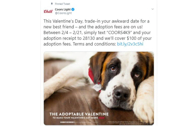 Coors Light Adoption Fees