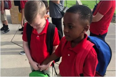 Little Boy Helps Crying Classmate With Autism