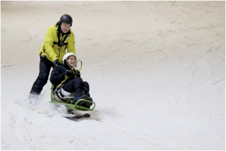 92-Year-Old Boyhood Dream Skiing