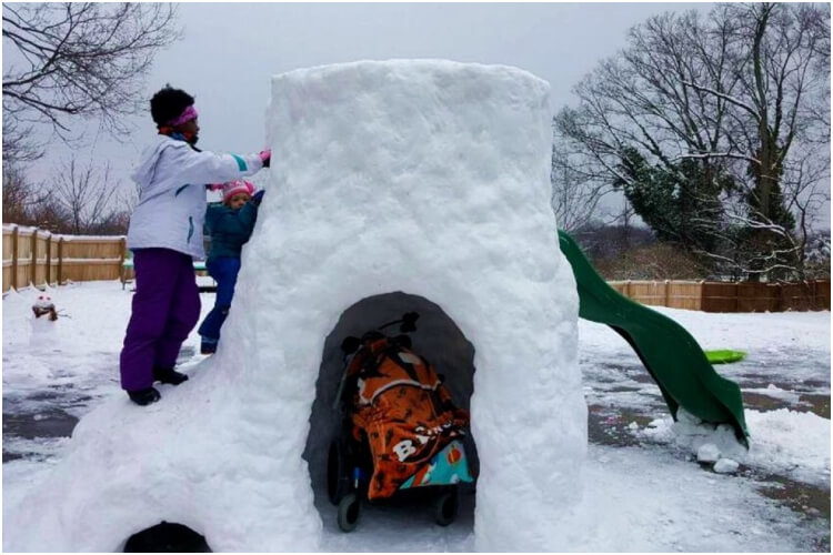 Gregg Eichhorn Builds Igloo For His 9 Disabled Kids