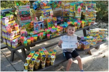 Young Boy Donates Toys To Hospital