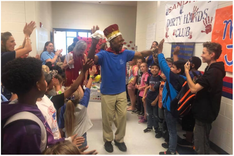 Retiring Janitor Surprise Party