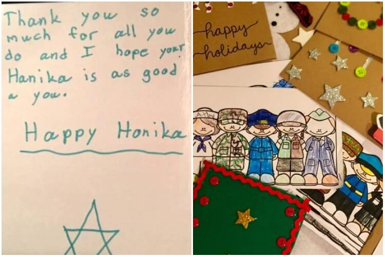 Woman Sends Christmas Cards To Military Members