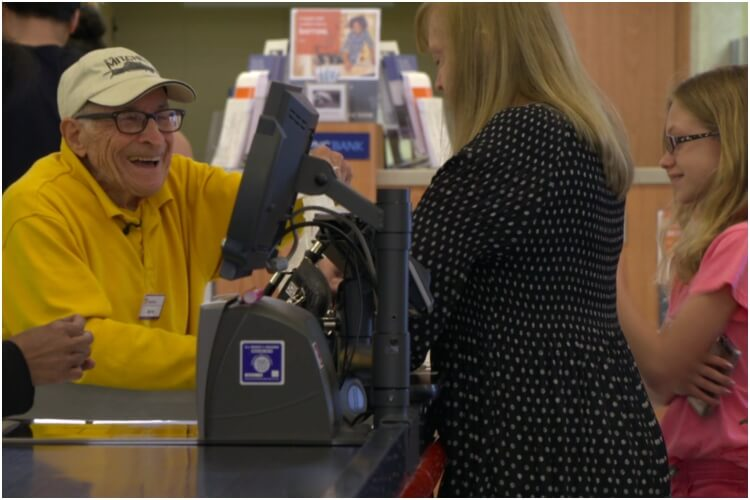 WWII Veteran Works At Grocery Store