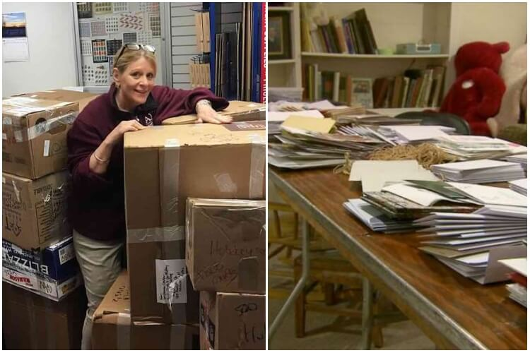 Grandmother Send Holiday Cards To Troops