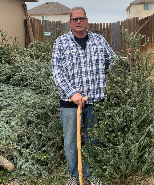Army Vet Christmas Trees Canes