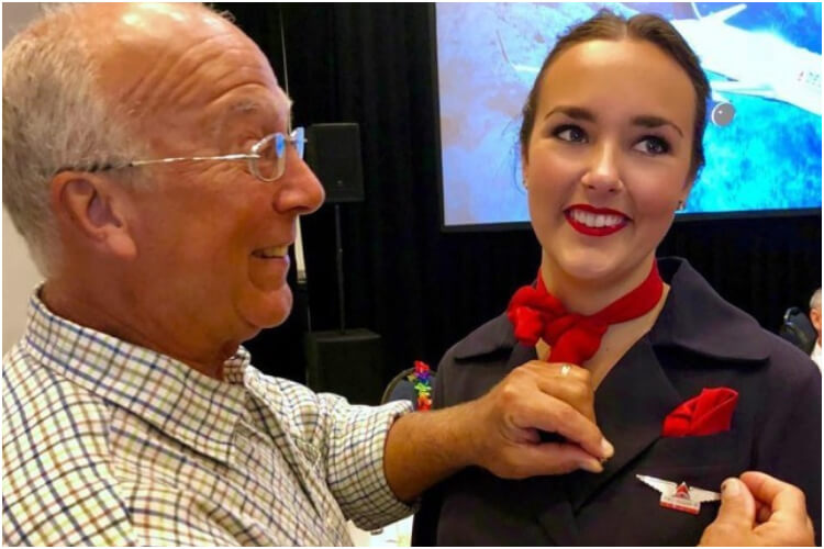 Father Daughter Flight Attendant Christmas