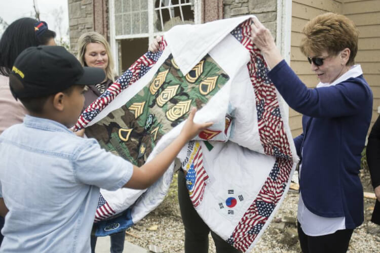 Lost Military Quilt Tornado